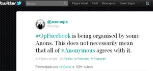 Hackers do Anonymous anunciam ataque ao Facebook