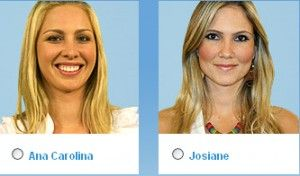 Vote no décimo segundo paredão do BBB (Big Brother Brasil) 9: Josiane Oliveira (Josy) e Ana Carolina