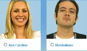 Vote no último paredão do BBB (Big Brother Brasil) 9: Ana Carolina e Maximiliano Porto (Max)