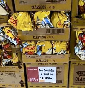 Ovos de Páscoa nos EUA a US$1,99