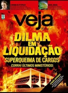 """""""Dilma em liquidação – superqueima de cargos"""", diz capa da revista Veja"""