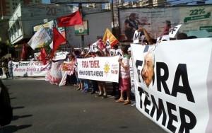 Protesto na Avenida Paulista pede pela saída do presidente Michel Temer
