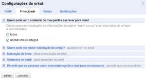 orkut-configuracao