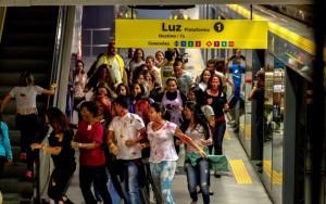 Simulação de atentado terrorista é realizada em estação do Metrô em São Paulo