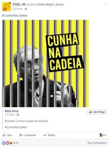 Oposição comemora prisão de Eduardo Cunha