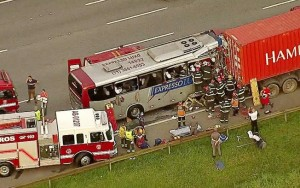 Acidente com ônibus em rodovia paulista deixa um morto e 20 feridos