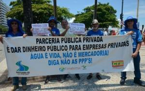 Servidores fazem manifestação contra pacote de medidas do governo do Rio