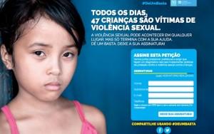 Campanha pressiona poder público pelo fim da violência sexual contra crianças